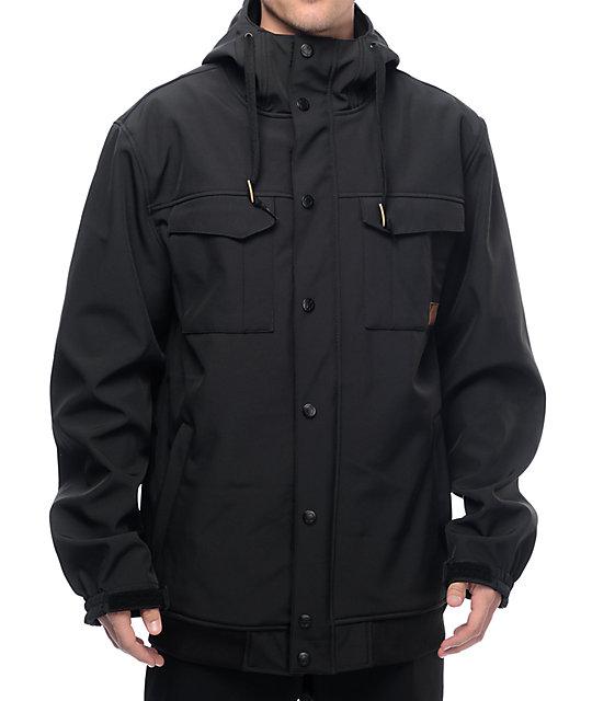 snowboard jackets empyre luger m65 softshell 10k black snowboard jacket wlfnwfh