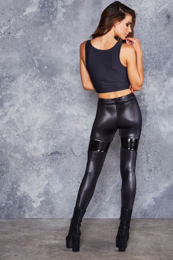 spartans black pvc leggings - limited mdxqrly