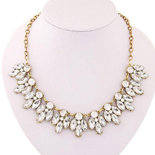 splendid womens bib statement luxury rhinestone necklace for a classic but  elegant design 52mw(china ghjihua