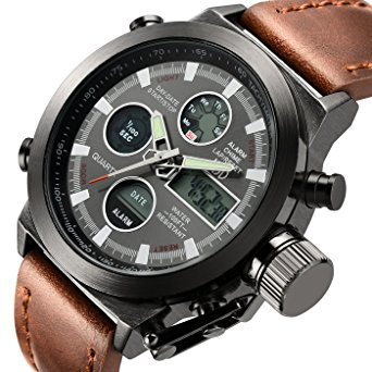 sports watches for men tamlee fashion leather men s military watches multifunctional digital sport  wrist watch yyquktz