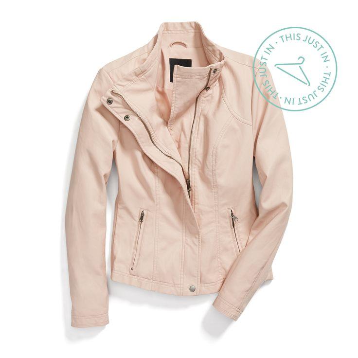 spring jacket springu0027s newest neutral adds a feminine twist to an edgy dpoyurw