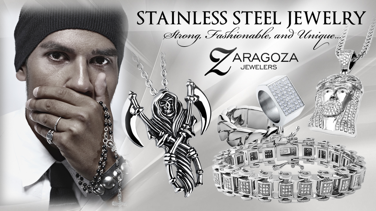 stainless steel jewelry stainless steel is one of the most popular contemporary jewelry metals,  especially with men. jtxrbrd