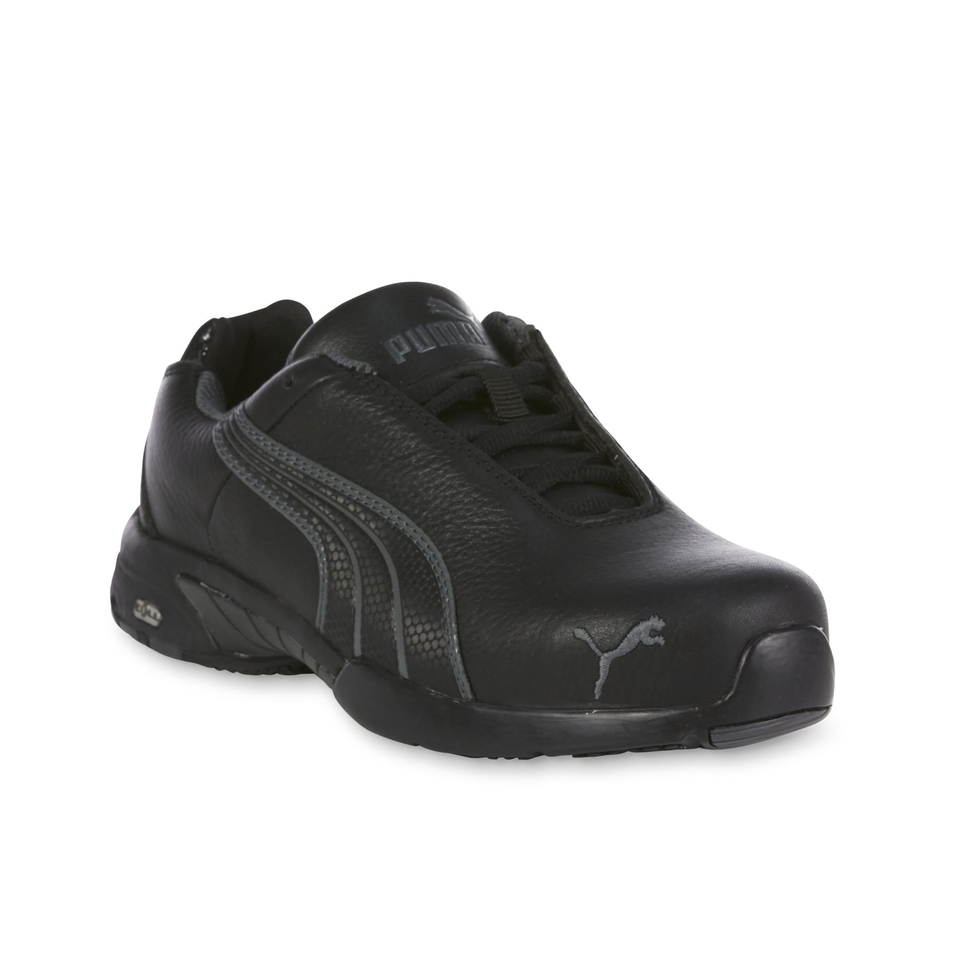 steel toe shoes for women puma safety womenu0027s velocity low black/gray steel toe static dissipative  work shoe nbopsaw