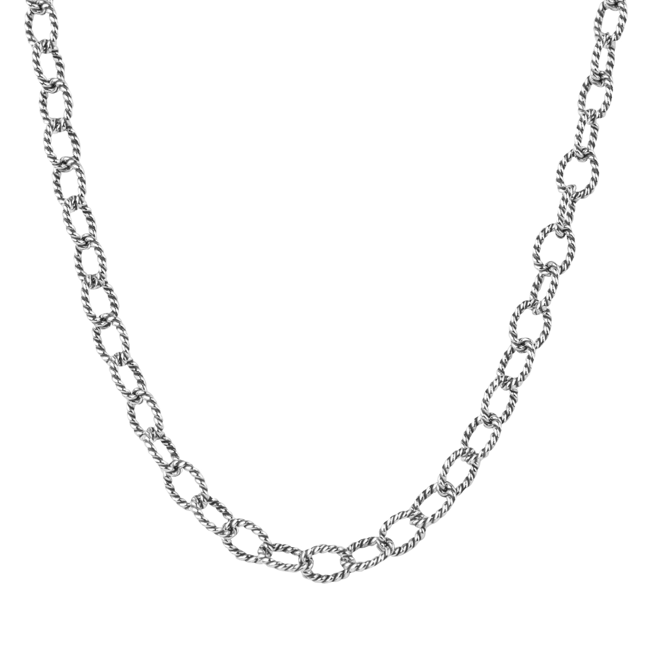 sterling silver 16 twisted rope chain necklace ekqabpz