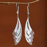 sterling silver filigree earrings, u0027wingsu0027 - sterling silver filigree bird  earrings rhacbei
