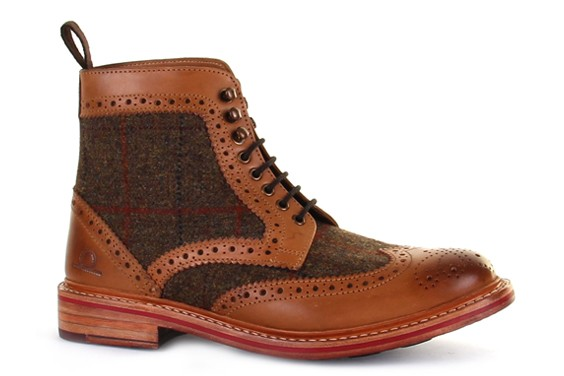stornoway high ankle tweed brogue boots hxfhpyc