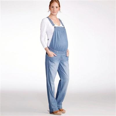 straight cut cotton denim maternity dungarees stonewashed blue+double  stonewashed blue snoosxu