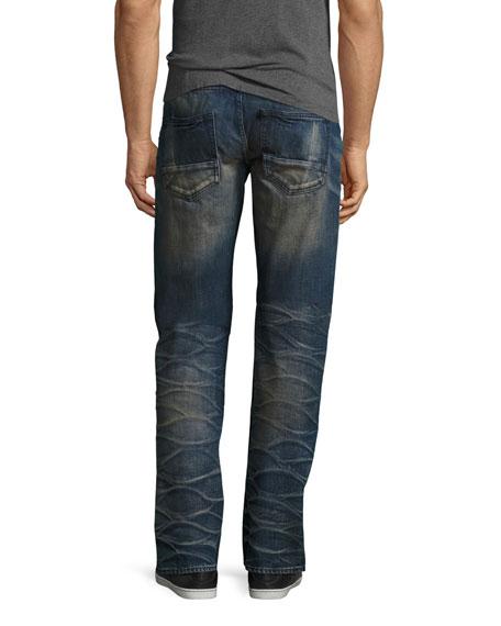 straight leg jeans porous barracuda straight-leg jeans, indigo oriystw