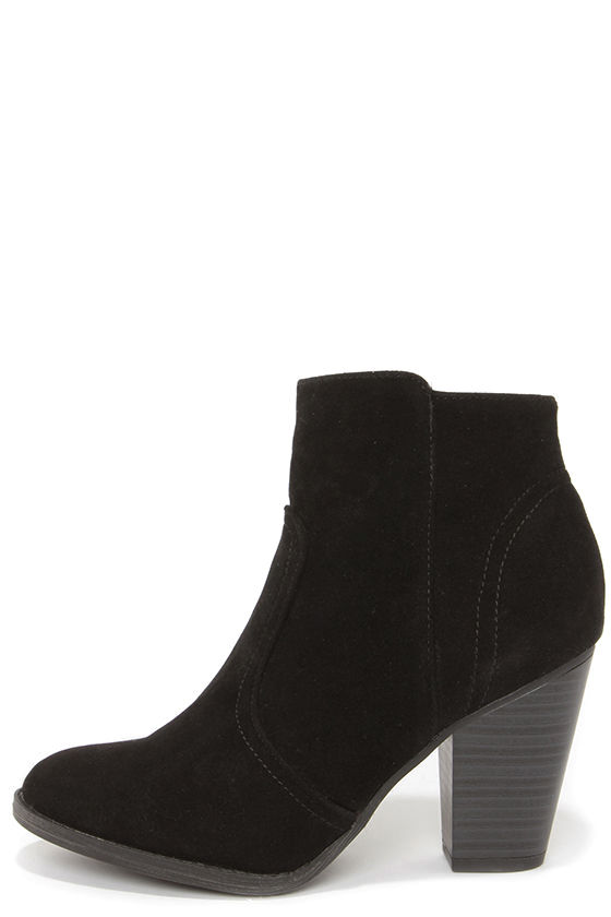 suede ankle boots cute black boots - suede boots - ankle boots - booties - $34.00 skozaqo