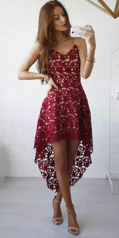 summer dress floral lace trim asymmetric spaghetti strap dress nkbyrmn