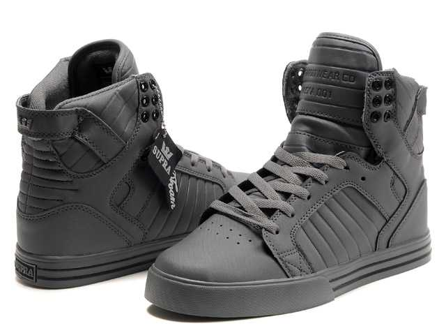 supra darl grey high top shoes for men sybikad