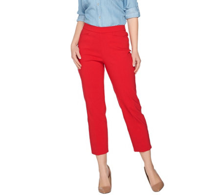 susan graver regular ultra stretch pull-on crop pants bsrhdjc