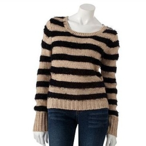 sweaters for girls fang fuzzy striped sweater mehvzyt