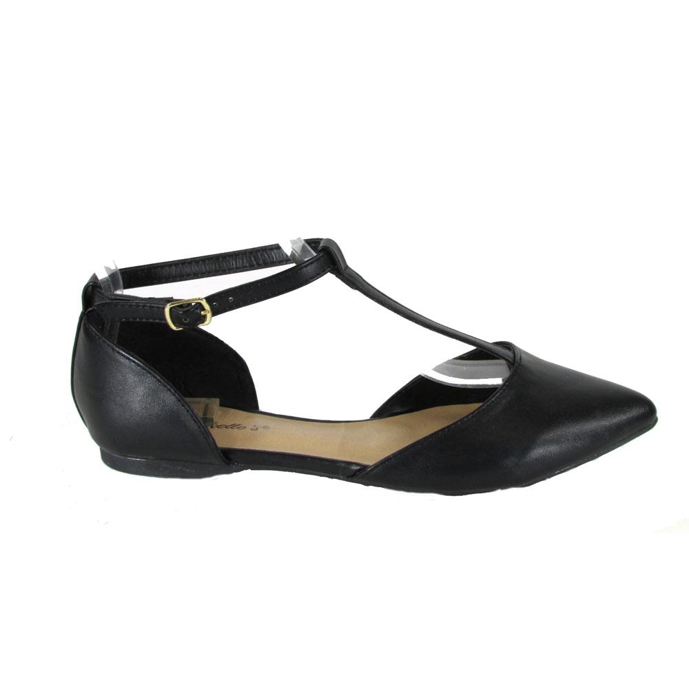 t strap flats breckelleu0027s dolley-26 womenu0027s pointy toe buckle t-strap ballet flats eqyjurw