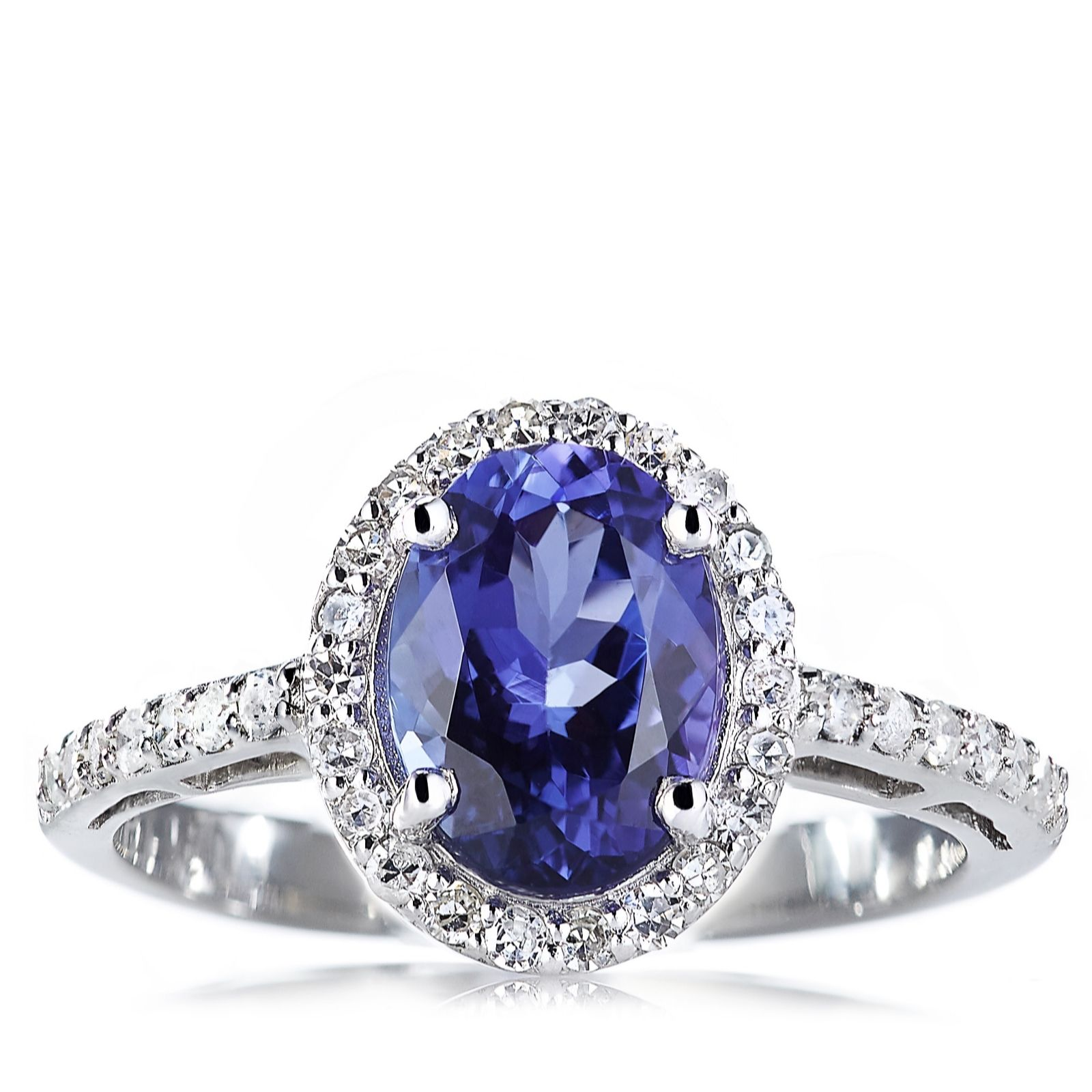 tanzanite rings 1.5ct aaaa tanzanite u0026 0.25ct diamond ring platinum - page 1 - qvc uk iitqcdb