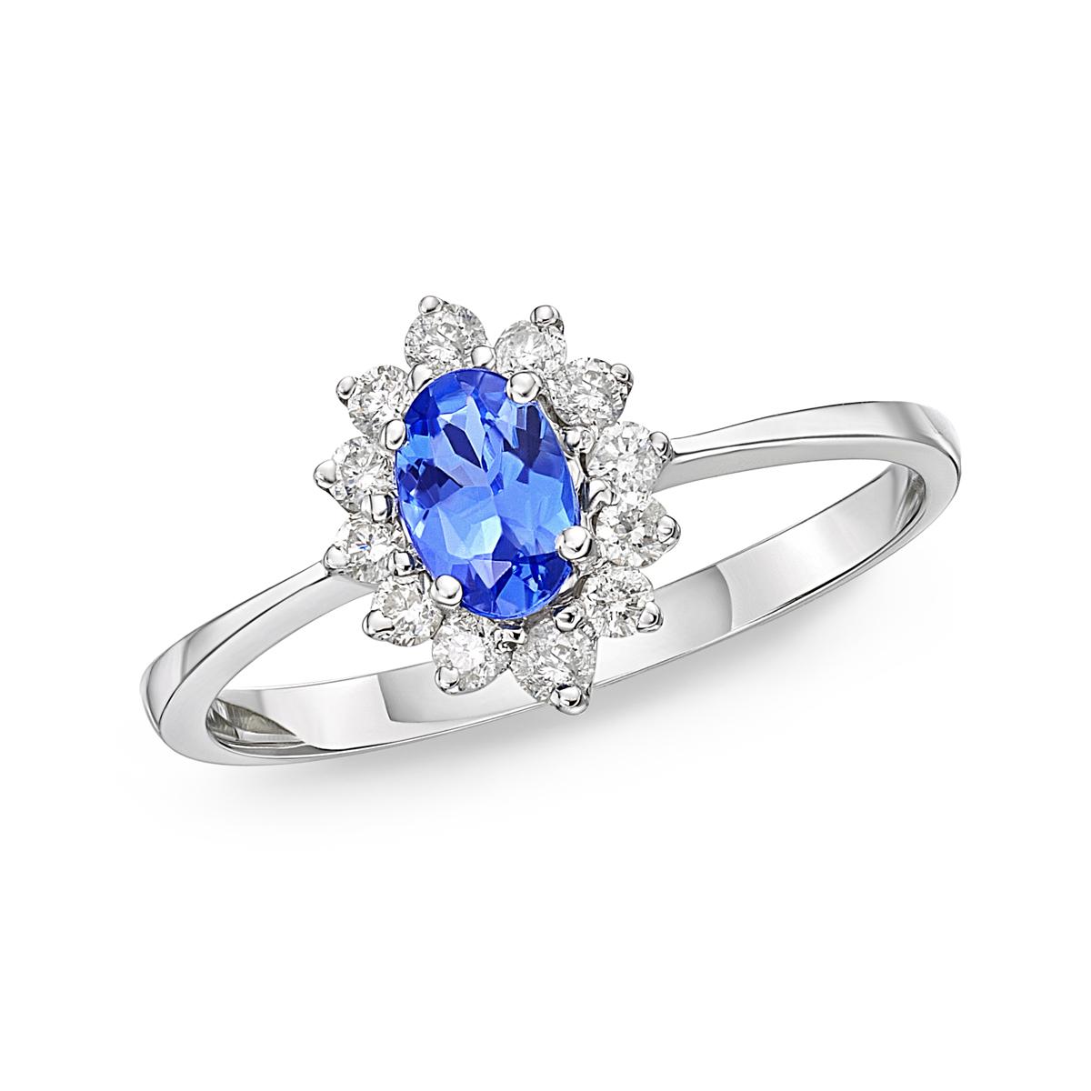tanzanite rings starburst tanzanite u0026 diamond cluster stacking ring vakksza