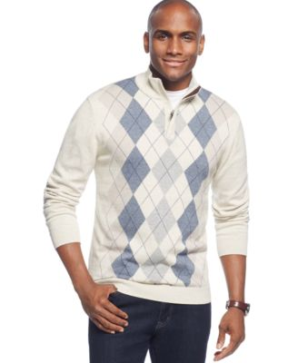 tasso elba quarter-zip argyle sweater, only at macyu0027s fkicnvz