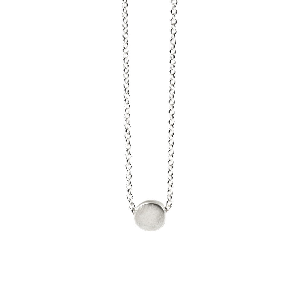 the circle necklace, sterling silver ... toxqfvy