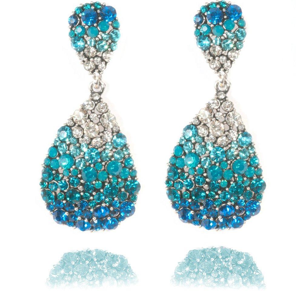 the grace and elegance of blue earrings styleskier com REEFSOZ