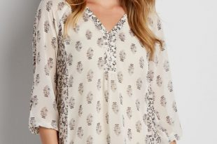 the perfect peasant blouse with button down neckline in floral print joexvox