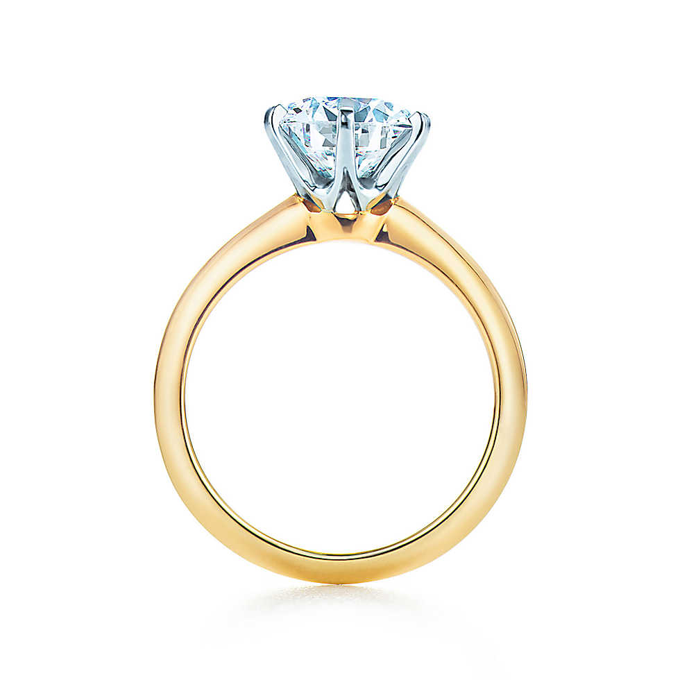 the tiffany® setting 18k yellow gold engagement rings | tiffany u0026 co. drgxfle
