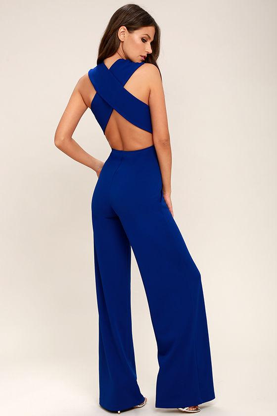 thinking out loud royal blue backless jumpsuit 1 kxvsqqu