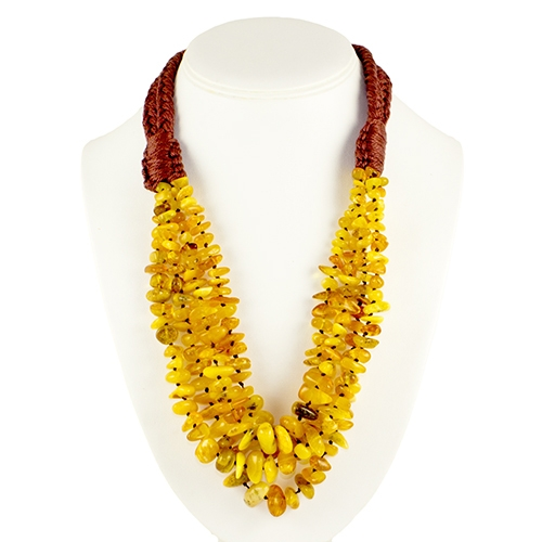 this beautiful amber necklace showcases honey and milky amber. the beauty  of this necklace DFTJPHM
