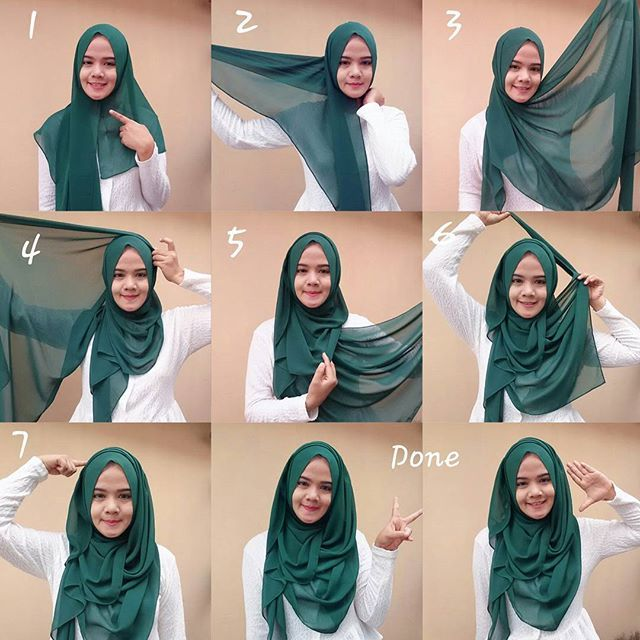 this is an easy chest coverage hijab style you can try for all occasions, it zsoarlo