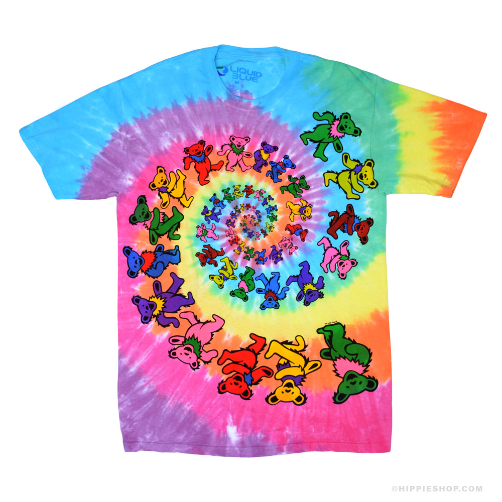 tie dye shirt grateful dead spiral bears tie dye t shirt mgjxttk