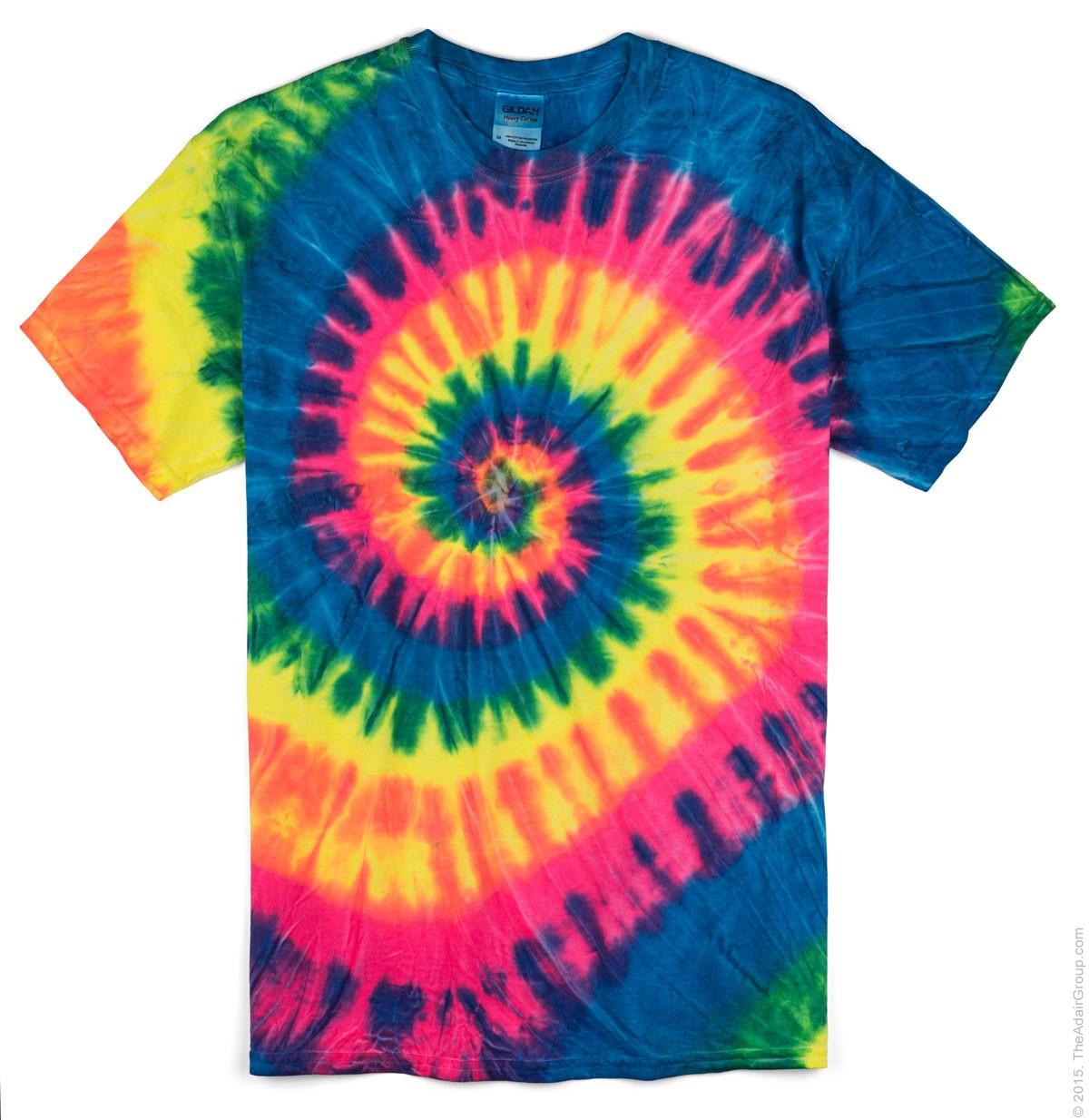 tie dye shirt neon rainbow - adult tie dye t-shirt qxmmwtt