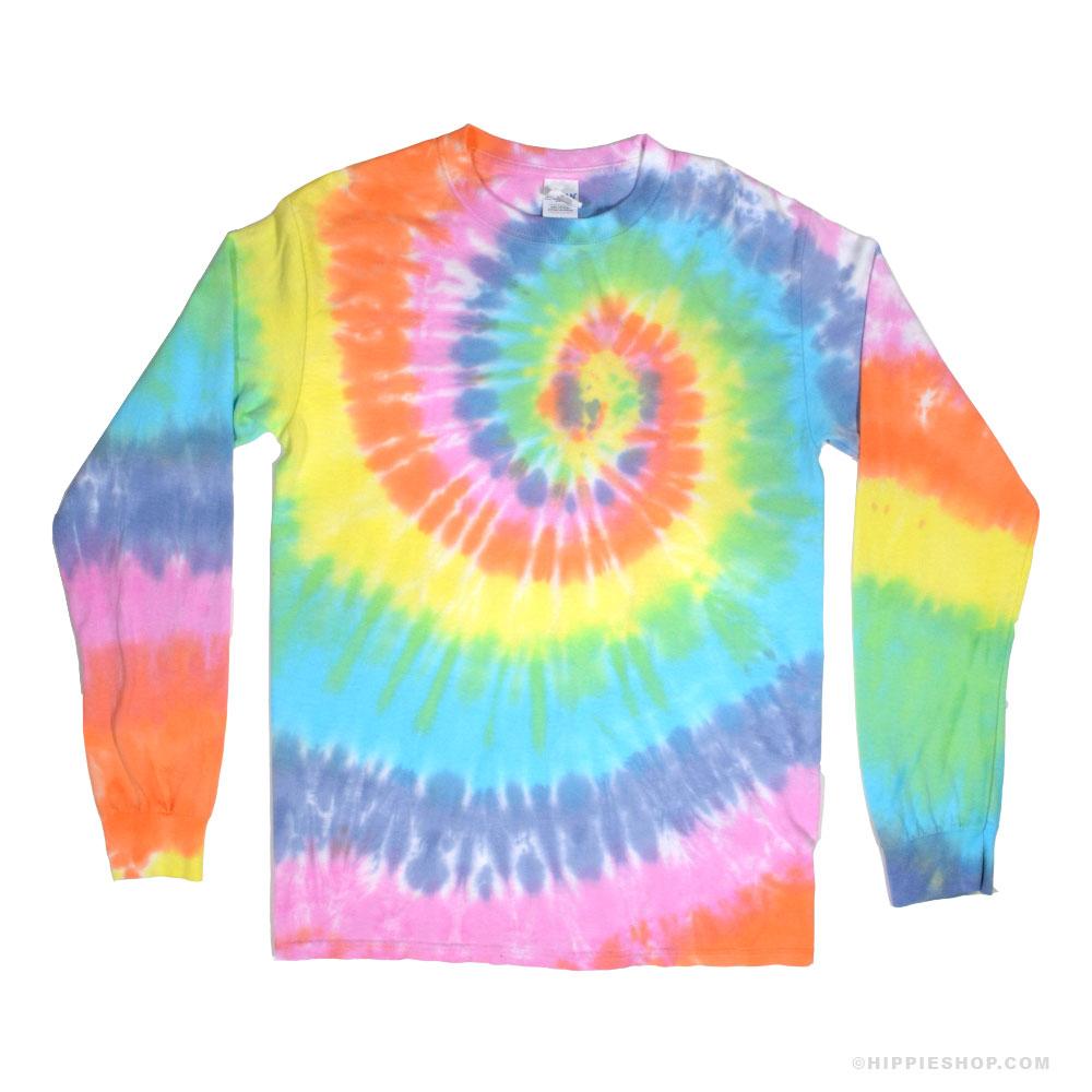tie dye shirt pastel rainbow spiral tie dye long sleeve t shirt bdxuybi