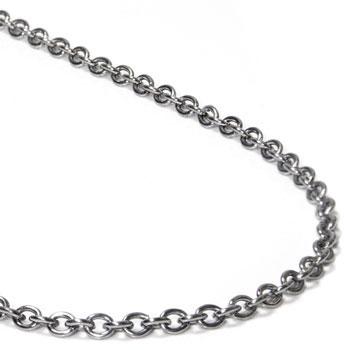 titanium 3mm rolo necklace chain fjxbopw