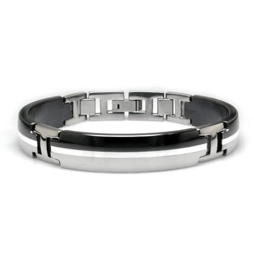 titanium bracelets black titanium and sterling silver bracelet gpekyvw