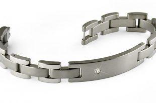 titanium bracelets diamond set titanium bracelet with id plate. engraving ready ufkgiog