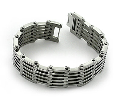 titanium bracelets polished menu0027s titanium bracelet with large links wxpxsic