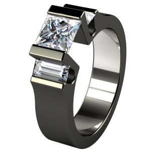 titanium engagement rings cathedrale black diamond treated titanium engagment ring howwxbt