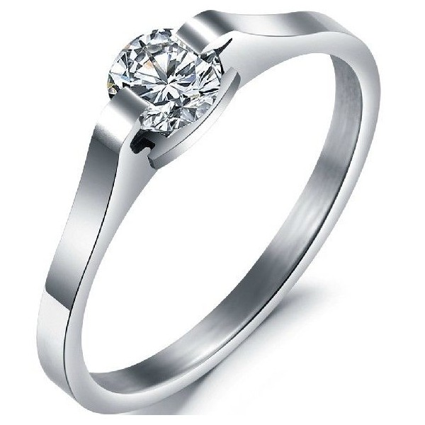 titanium engagement rings titanium engagement ring wedding cz solitaire ... uaghfwl