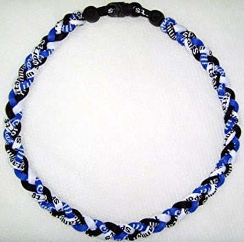 titanium necklace 20 titanium sports necklace - blue/white/black odbndsy