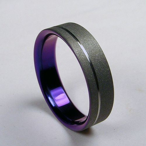 titanium wedding rings purple titanium wedding band, this is awesome. i bet i could even convince  him qqnhypc