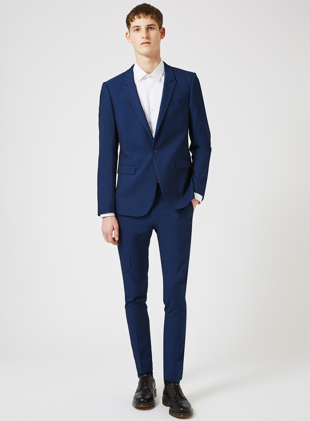 topman suits blue twill ultra skinny fit suit jacket - topman usa jwkxury