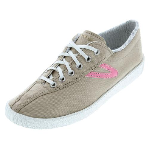 tretorn shoes tretorn tretorn menu0027s nylite canvas khaki/pink shoes eizhxnq