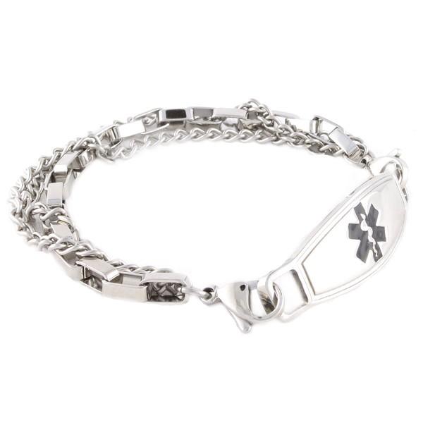 trip medical id bracelets | box link bracelet | n-style id gchxpzm