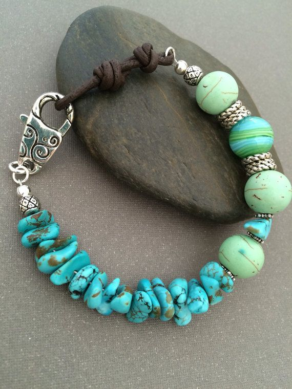 turquoise bracelet green magnesite bracelet by classychicdesigns4u hlpsjju