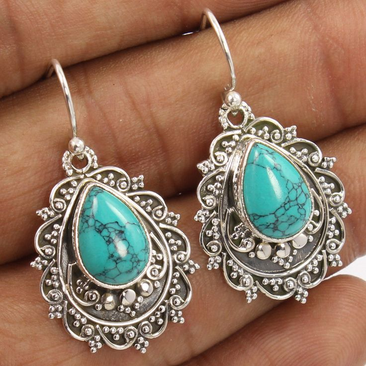 turquoise jewelry l-37 mm 1 3/8 vtxwowh
