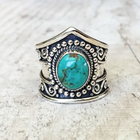 turquoise rings tribal turquoise ring | bohemian jewels | indie and harper lqbwiwq