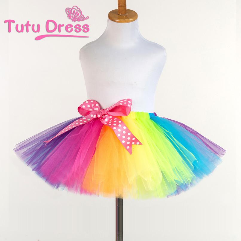 tutu skirts aliexpress.com : buy 2017 new fluffy handmade rainbow tutu skirt colorful  cheap girl skirt owyxmdp