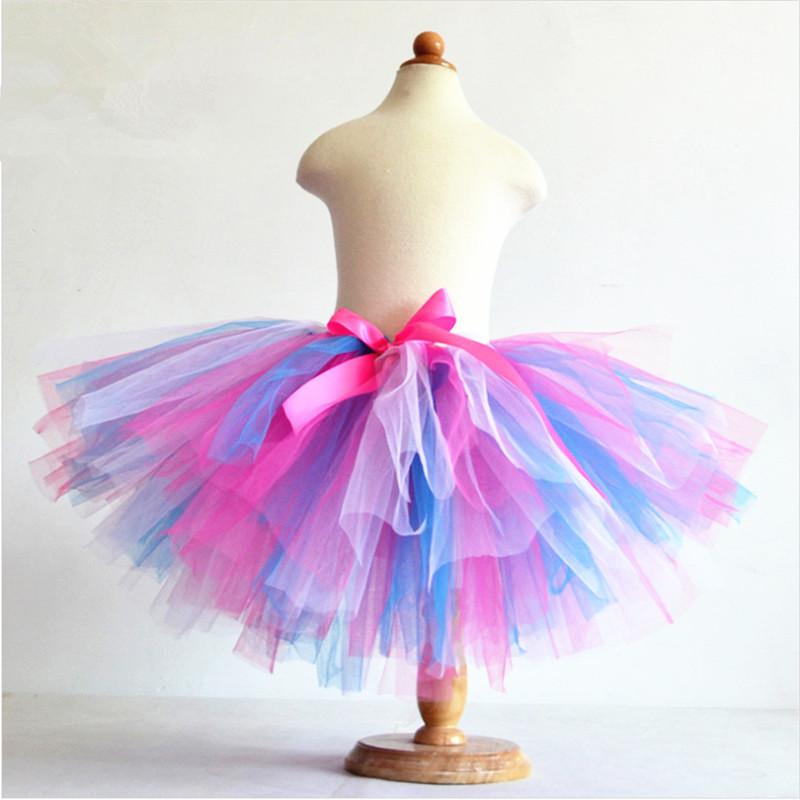 tutu skirts aliexpress.com : buy hot sale summer fluffy 3 layer girls rainbow tutu  skirts baby nkfthyi