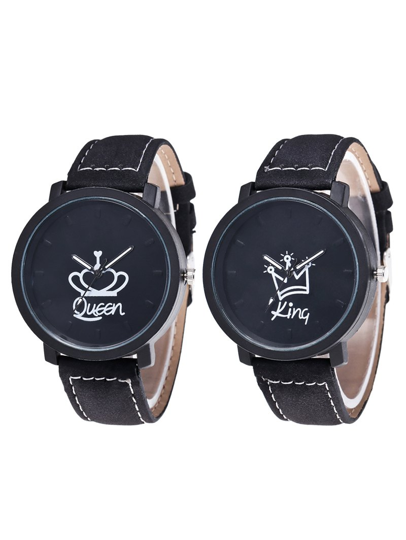 tweet · share on tumblr. king queen crown analog couple watches ... adxvlzw