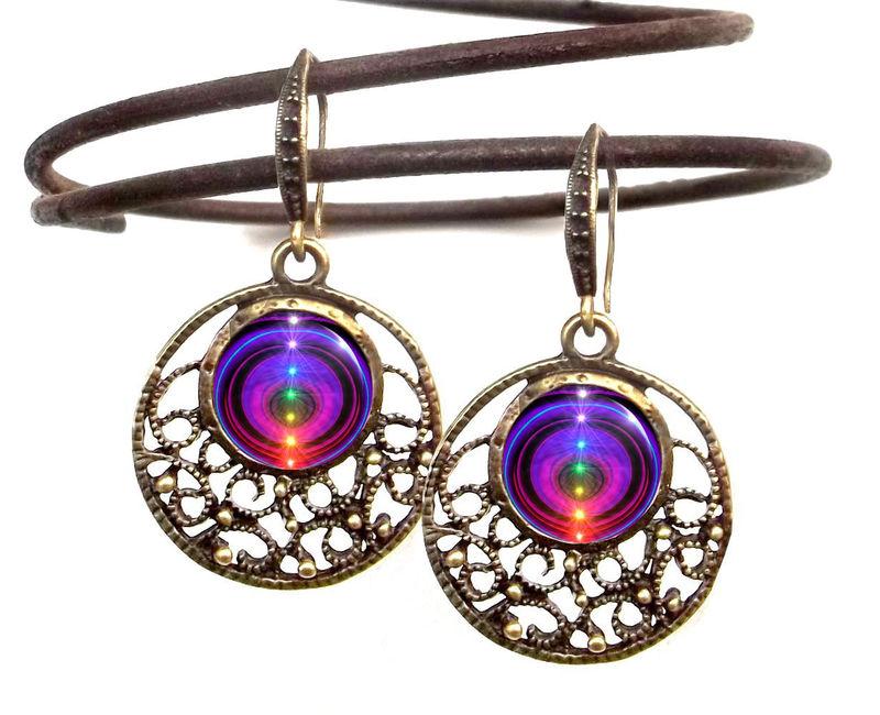 unique jewelry wearable rainbow art boho earrings  elxhwue