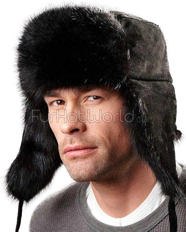 ushanka hat the black muskrat russian trooper hat ... yjjcqde